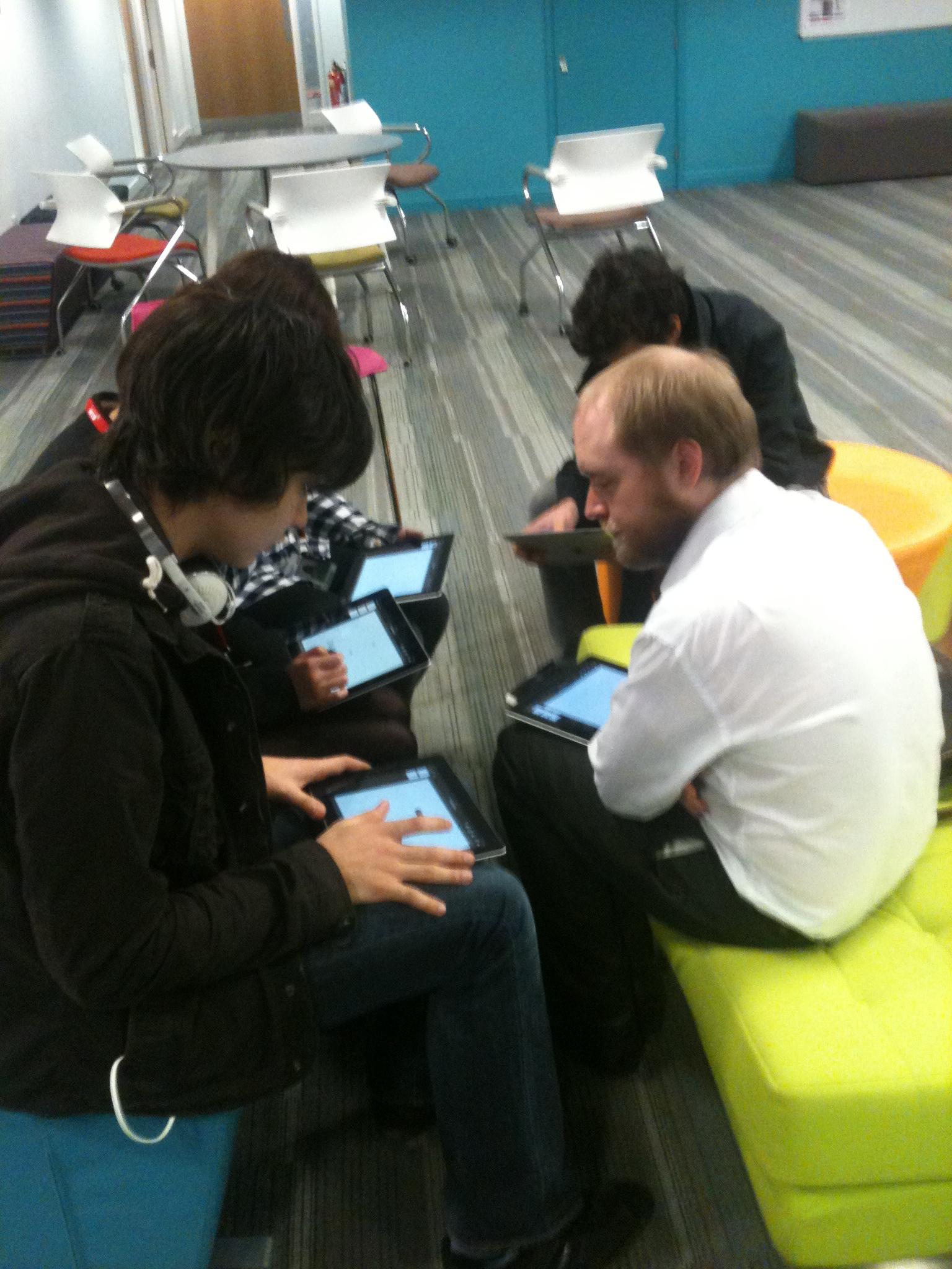 TEACHER IN PAUL BREEN'S PHD STUDY USING I PADS IN CLASSROOM