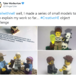 Lego people demonstrating academics at work