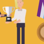 illustration of people receiving an award